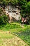 l'Indonésie, Sulawesi, Tana Toraja, tombeau antique Images libres de droits