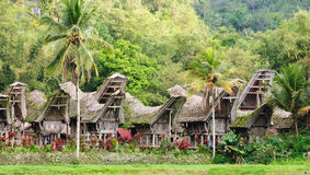 L'Indonésie, Sulawesi, Tana Toraja, village traditionnel image stock