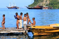 L'Indonésien badine la vie Photo libre de droits