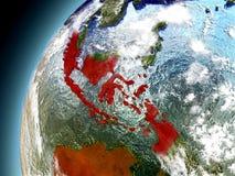 L'Indonesia dall'orbita di Earth di modello Fotografie Stock
