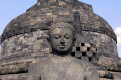 L'Indonesia, Java, Borobudur: Tempiale Immagini Stock Libere da Diritti