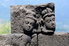 L'Indonesia, Java, Borobudur: Tempiale Fotografia Stock Libera da Diritti