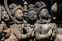 L'Indonesia, Java, Borobudur: Tempiale Fotografie Stock Libere da Diritti