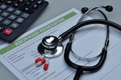 L'Indonesia medica e assicurazione malattia immagine stock libera da diritti
