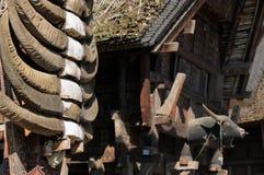 L'Indonesia, villaggio tradizionale Fotografia Stock Libera da Diritti