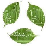 L'industria verde ricicla Fotografia Stock