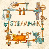 L'industriale lavora la struttura a macchina illustrazione di stock