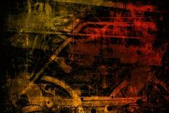 L'industriale marrone-rosso lavora il fondo a macchina Immagine Stock Libera da Diritti
