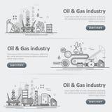L'industrie de production de pétrole et de gaz traitent le Se d'en-tête de bannière de site Web Photos libres de droits