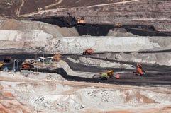L'industrie minière a employé l'extrait d'équipement de machines d'extraction Photographie stock