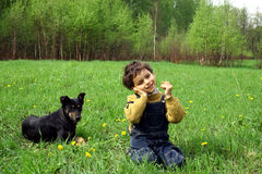 L'infanzia. Immagine Stock
