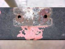 L'inferriata del balcone ha rovinato 2 Fotografie Stock Libere da Diritti