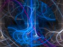 L'infini numérique de carte d'accélération de visualisation a produit du beau chaos de fractale de conception de technologie de c Illustration Libre de Droits