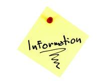 L'information Images stock