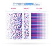 L'information abstraite de courant Algorithmes de filtrage de machine illustration stock