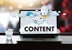 L'information Blogging Vi de publication de media de données SATISFAITES de vente photos stock