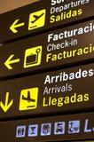 L'information d'aéroport Image libre de droits