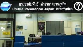 L'information d'aéroport de Phuket Photos libres de droits