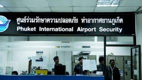 L'information d'aéroport de Phuket Photo stock
