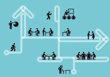 L'information d'icône d'affaires, concept de travail d'équipe, Images libres de droits