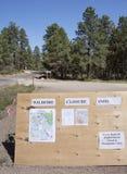 L'information d'incendie Photo libre de droits