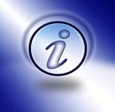 l'information de bouton Illustration Libre de Droits