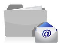 L'information de dépliant de courrier et d'enveloppe Images libres de droits