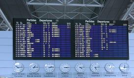 l'information de déviation de panneau d'aéroport Image libre de droits