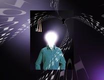 L'information de Digitals d'homme d'idée Photographie stock