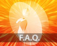 L'information de FAQ illustration libre de droits