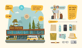 L'information de gare routière Photographie stock