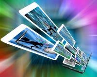 L'information de l'ordinateur portable Photo libre de droits