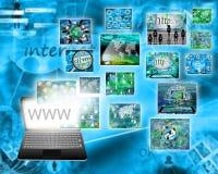 L'information de l'ordinateur portable Image libre de droits