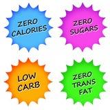 L'information de nourriture Photo stock