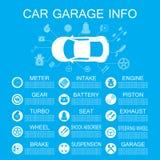 L'information de pièce de voiture Photographie stock libre de droits