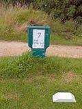 L'information de trou de tee de golf Photographie stock libre de droits