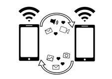 L'information de Wi-Fi Plan d'échange Calibre de téléphone Graphismes de vecteur illustration de vecteur