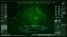L'information olographe de fond d'interface d'affichage haut numérique de pointe de tête illustration stock