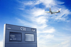 L'information sur autoriser et aéronefs, le Shangha Images stock