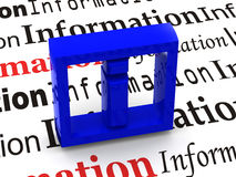 L'information. Symbole Image stock