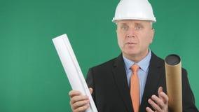 L'ingegnere Image Talking Technical pubblica nella riunione immagine stock