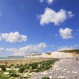 L'Inghilterra Sussex orientale che Birling Gap sette sorelle quadrato Fotografia Stock Libera da Diritti