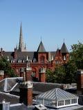 L'Inghilterra: Tetti del Victorian a Norwich Fotografia Stock Libera da Diritti