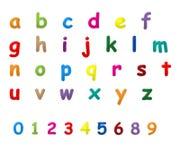 L'inglese segna la a - la z con lettere Fotografia Stock