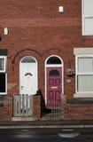 L'inglese a terrazze alloggia Manchester, Inghilterra Fotografie Stock Libere da Diritti