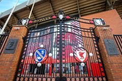 L'ingresso di Paisley davanti allo stadio di Anfield fotografia stock libera da diritti
