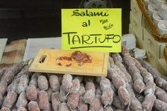 L'inizio del tartufo giusto in alba (Cuneo), è stato tenuto per più di 50 anni, la corsa dell'asino Fotografia Stock Libera da Diritti