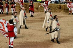 L'inizio del tartufo giusto in alba (Cuneo), è stato tenuto per più di 50 anni, la corsa dell'asino Fotografia Stock