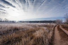 L'inizio dell'inverno Immagine Stock