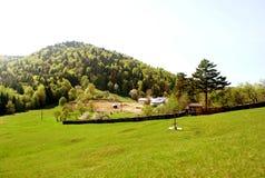 L'inizio della costruzione del monastero della montagna Immagine Stock